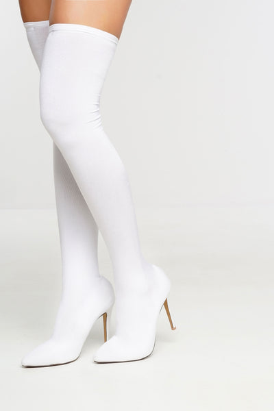 Manhattan Boots   White by Want My Look