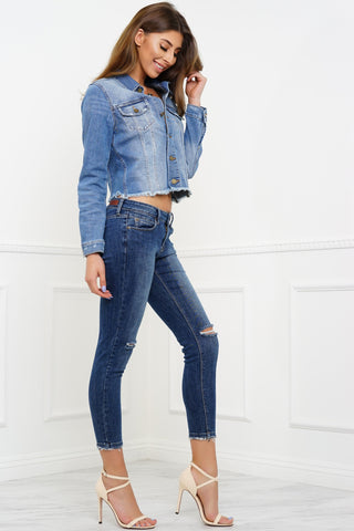 Retro Denim Jeans - Medium