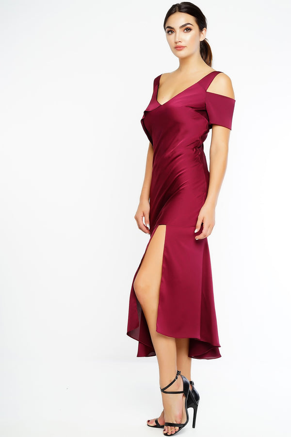 Anella Dress - Wine