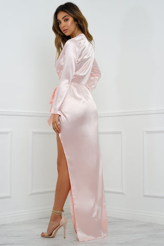 Kara Wrap Dress - Blush