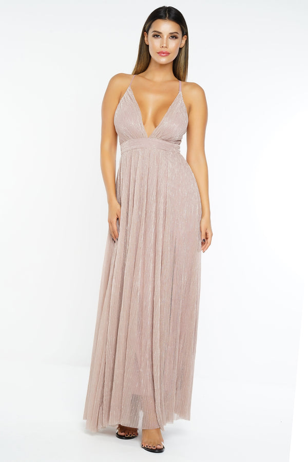 All That Glitters Dress - Mauve