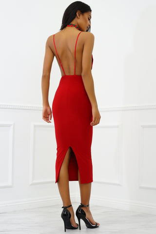 Siri Midi Dress - Red