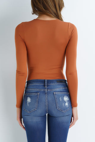 Pumpkin Bodysuit - Orange