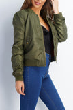 Essential Bomber Jacket - Olive - WantMyLook