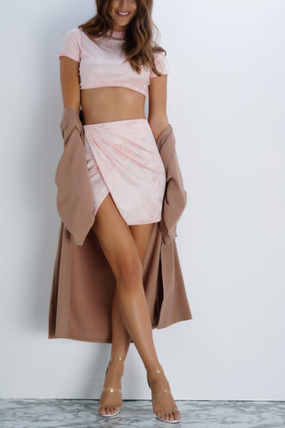 Hillary Velvet Set - Blush - WantMyLook