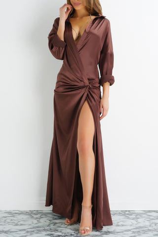 Petra Dress - Chocolate