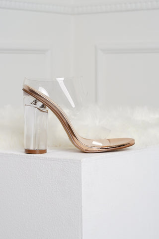 Risk Taker Heels - Rose Gold