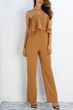 Blake Multi Way Jumpsuit - Camel - WantMyLook