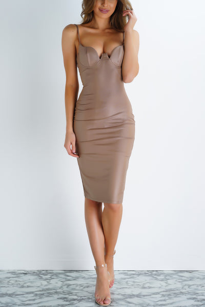After Dark Dress - Mocha