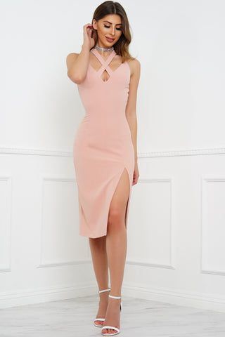 Orla Midi Dress - Blush