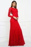 Eleanor Lace Gown - Red