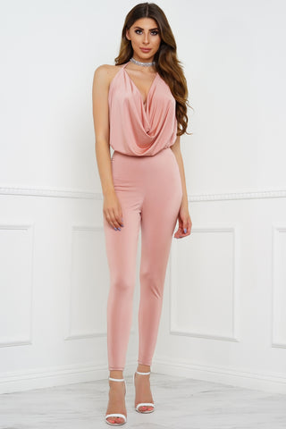 Think Twice Jumpsuit - Pink