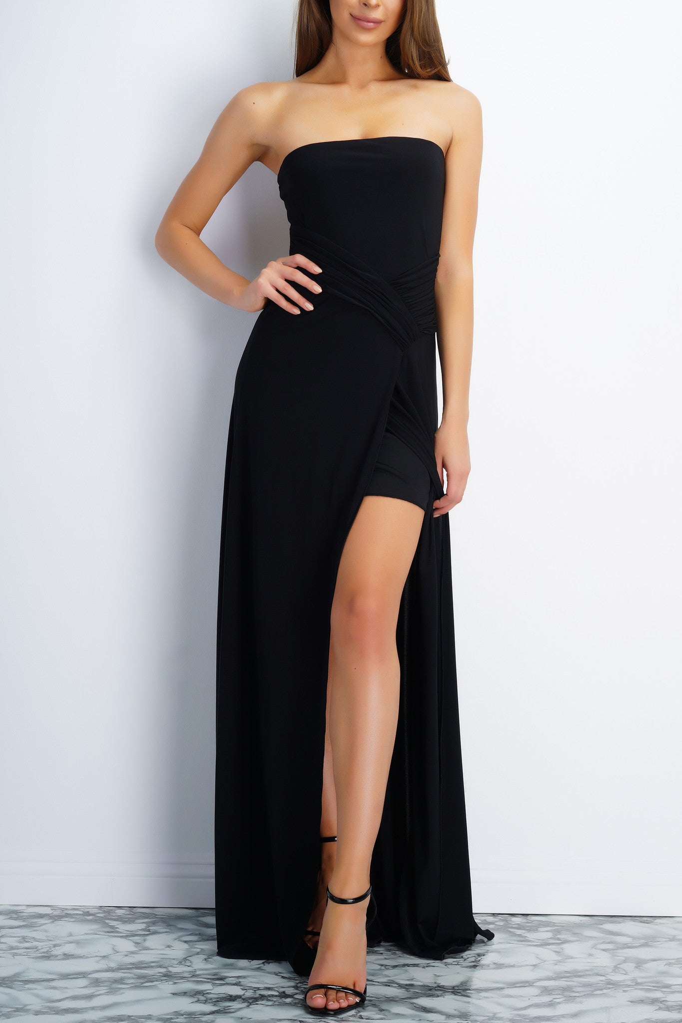 Jodi Strapless Evening Gown - Black – WANTMYLOOK