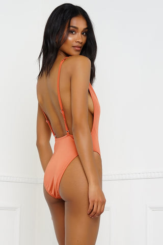 Redondo Beach Swimsuit - Metallic Copper