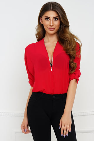 Unzip Me Bodysuit - Red