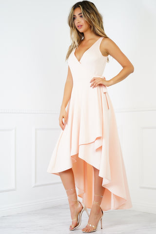 Rose Wrap Dress - Blush