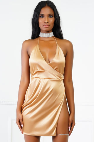 Izzy Mini Dress - Champagne