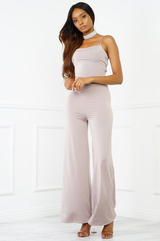 Shania Jumpsuit - Taupe
