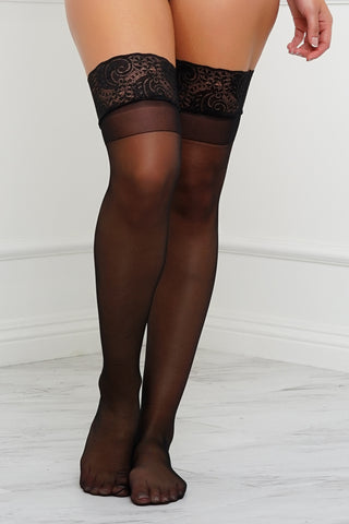 Sweet Time Thigh High - Black