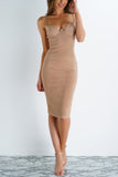 Persuede Dress - Camel
