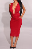 Savannah Knot Dress - Red