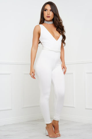 Sweetest Dreams Jumpsuit - Ivory