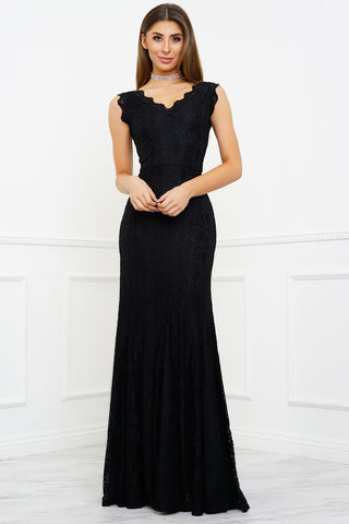 Lena Lace Gown - Black