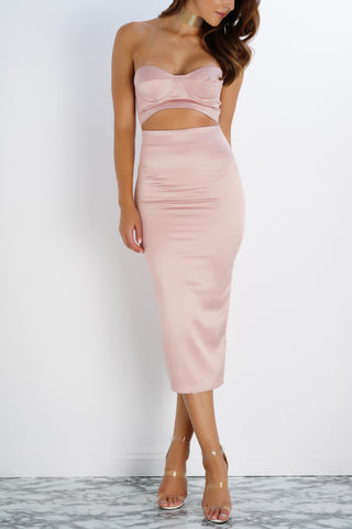 Ari Sweetheart Dress - Pink - WantMyLook