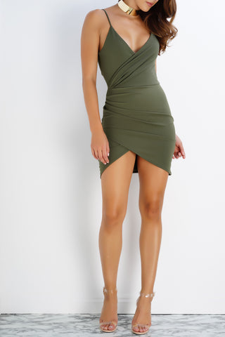Alison Mini Dress - Olive - WantMyLook