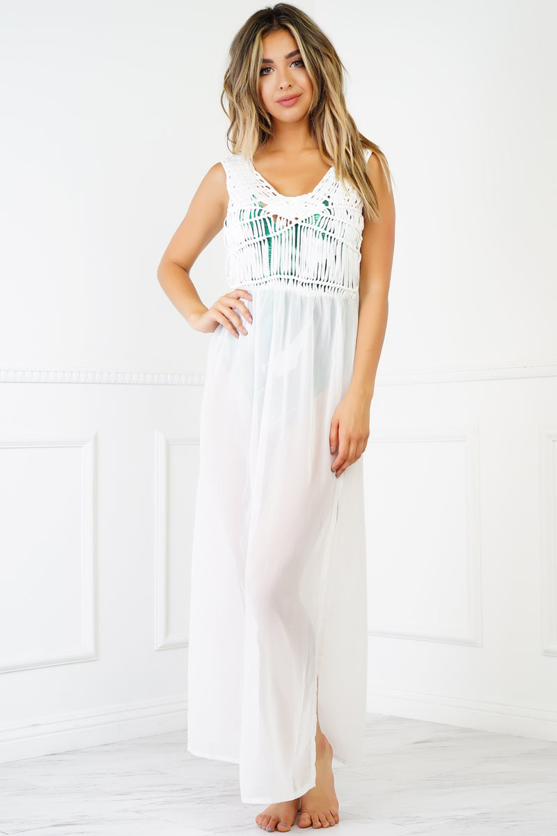 Azure Cover Up Maxi Dress - White
