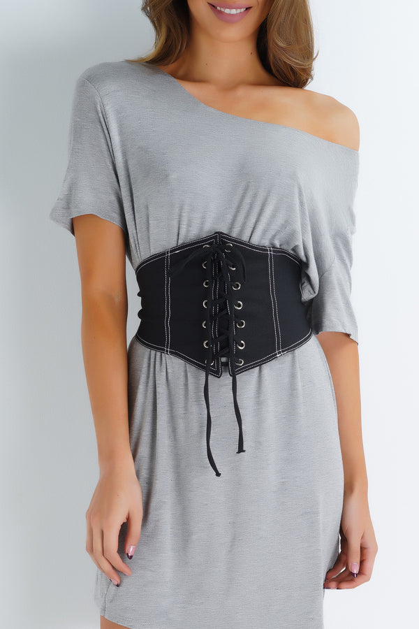 Hailey Corset Belt - Black - WantMyLook