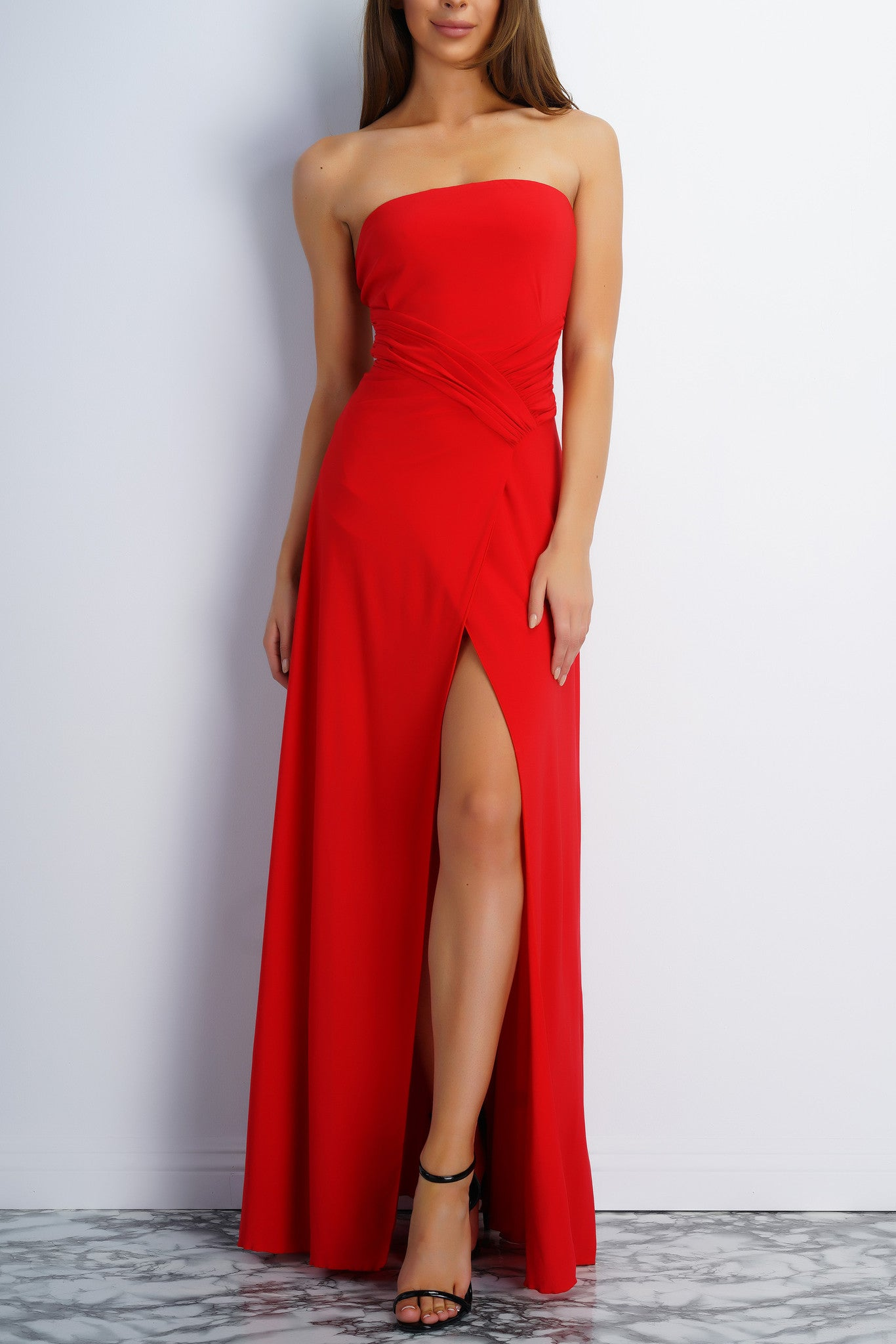 Jodi Strapless Evening Gown - Red – WANTMYLOOK