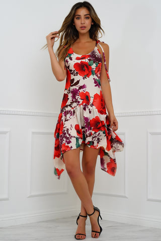 Jaz Dress - Nude Floral