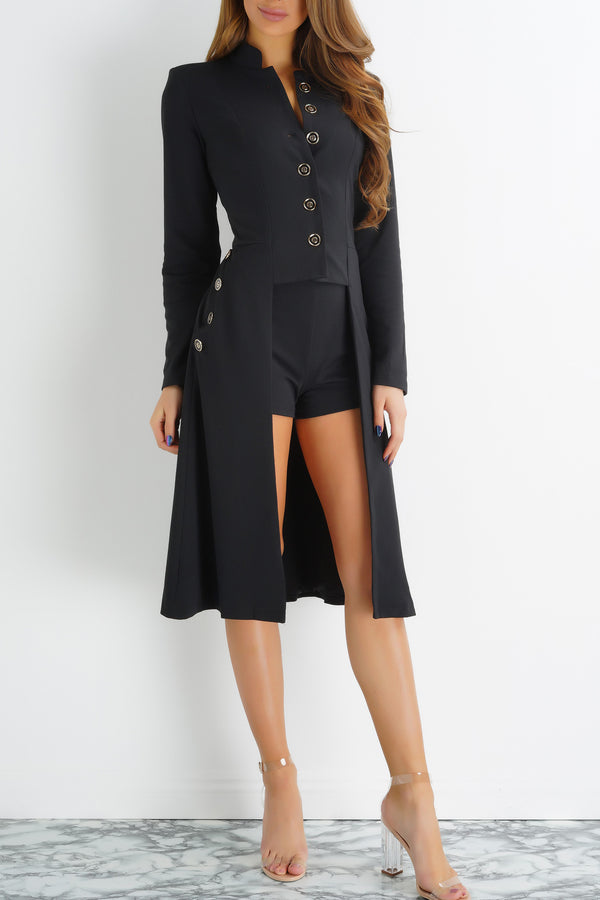 Nautical Overcoat - Black