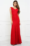 Lena Lace Gown - Red