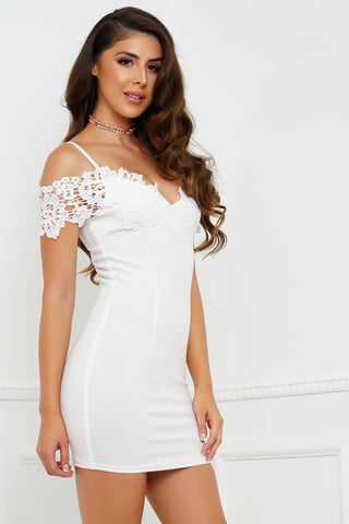 Forever Lace Dress - White