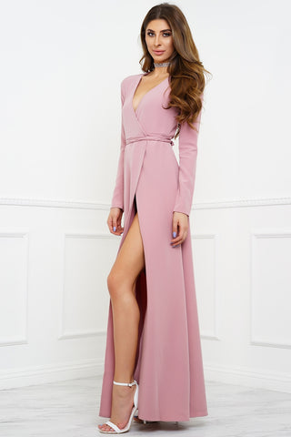 Yasmin Wrap Dress - Rose