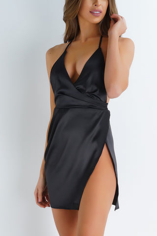 Izzy Mini Dress - Black - WantMyLook