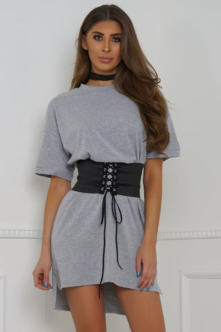 Body Rock Oversized Belted Tee - Grey