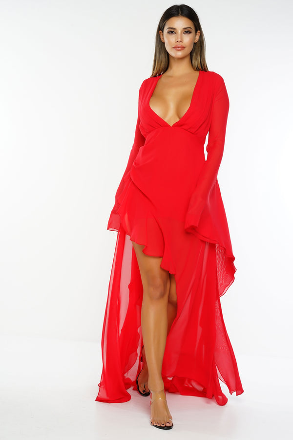 Zayla Dress - Red