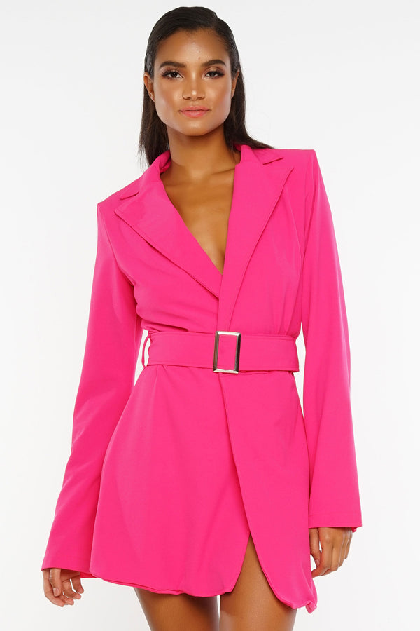 Hadid Blazer Dress - Hot Pink
