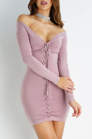 Emmalyn Dress - Mauve