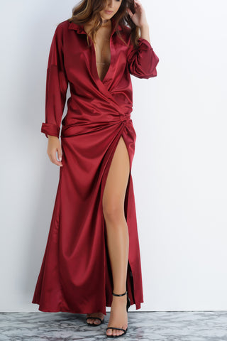 Petra Dress - Burgundy