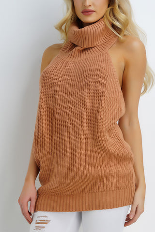 Harvest Turtleneck Top - Tan