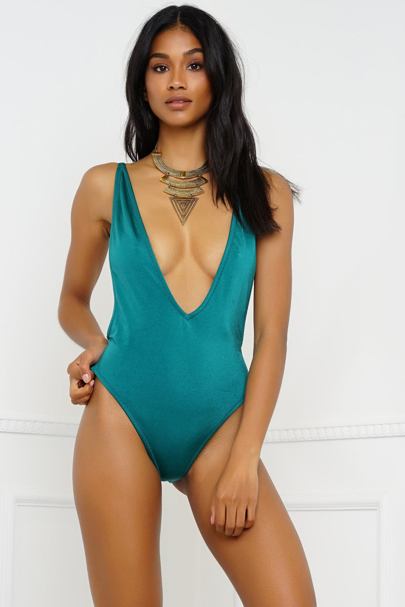 Redondo Beach Swimsuit - Metallic Emerald