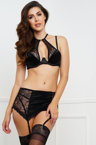 All Over You Bra & Panty Set - Black