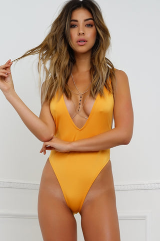 Redondo Beach Swimsuit - Metallic Orange