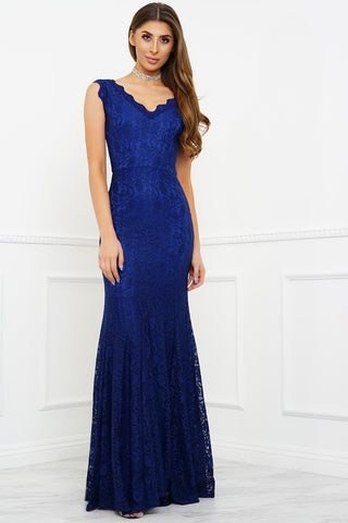Lena Lace Gown - Blue
