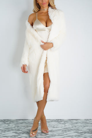 Raya Faux Fur Jacket - Ivory