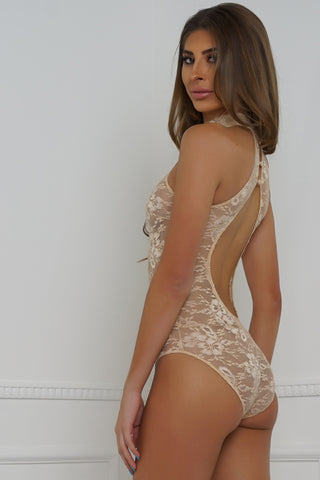 Lace Is More Teddy - Nude